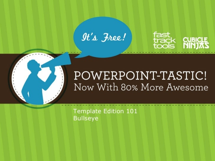 101 powerpoint tastic template bullseye