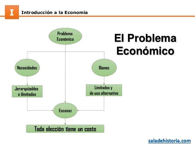 Introducción a la EconomíaI saladehistoria.com El Problema Económico