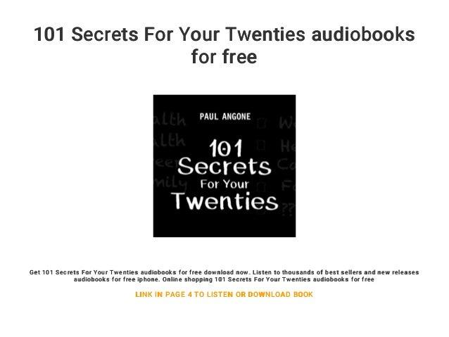 Download[pdf] 101 secrets for your twenties pb kindle.