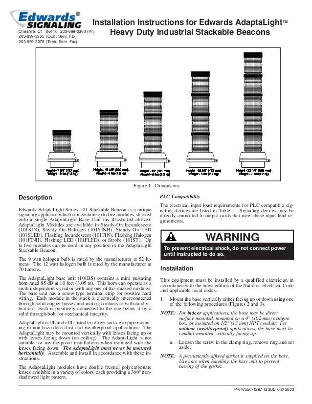 edwards signaling 101sinhg g1 installation manual rh slideshare net Tech Review Manual Manuel Tech Career Center