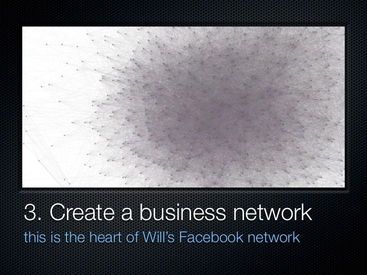 3. Create a business network this is the heart of Will's Facebook network
