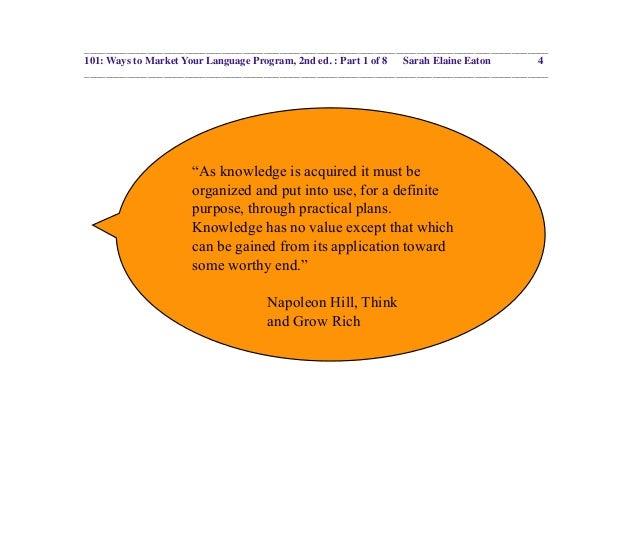 101 ways to market your language program ebook part 1 ways to market your language program 2nd ed part 1 of 8 sarah elaine eaton fandeluxe Images