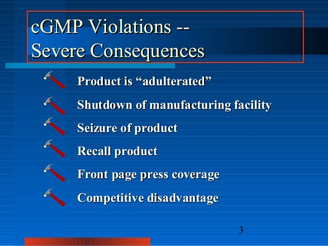 "Good Manufacturing Practice (""GMP"") Compliance: GMPs EXPLAINED by SID…"