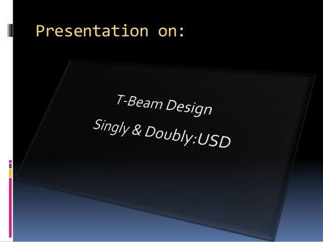 T-Beam Design by USD method-10.01.03.102 Slide 3
