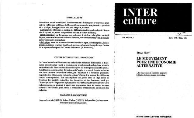 102 le mouvement pour une économie alternative. s. hunt. (document à télécharger en format pdf, 1,8 mb).