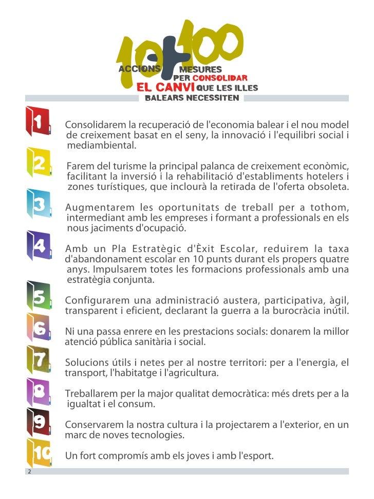 20 mesures, eleccions 2011