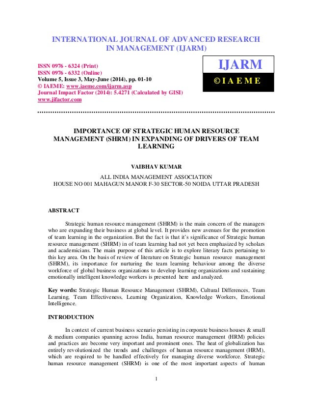 International Journal of Advanced Research in Management (IJARM), ISSN 0976 – 6324 (Print), ISSN 0976 – 6332 (Online), Vol...
