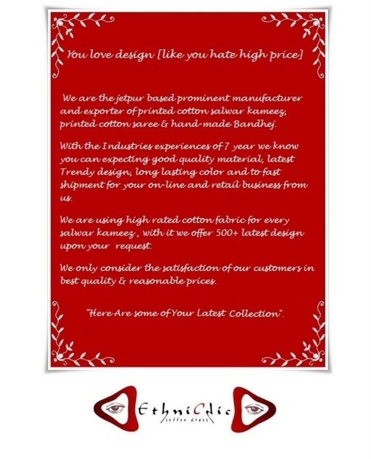 cotton dress manufacturer jetpur