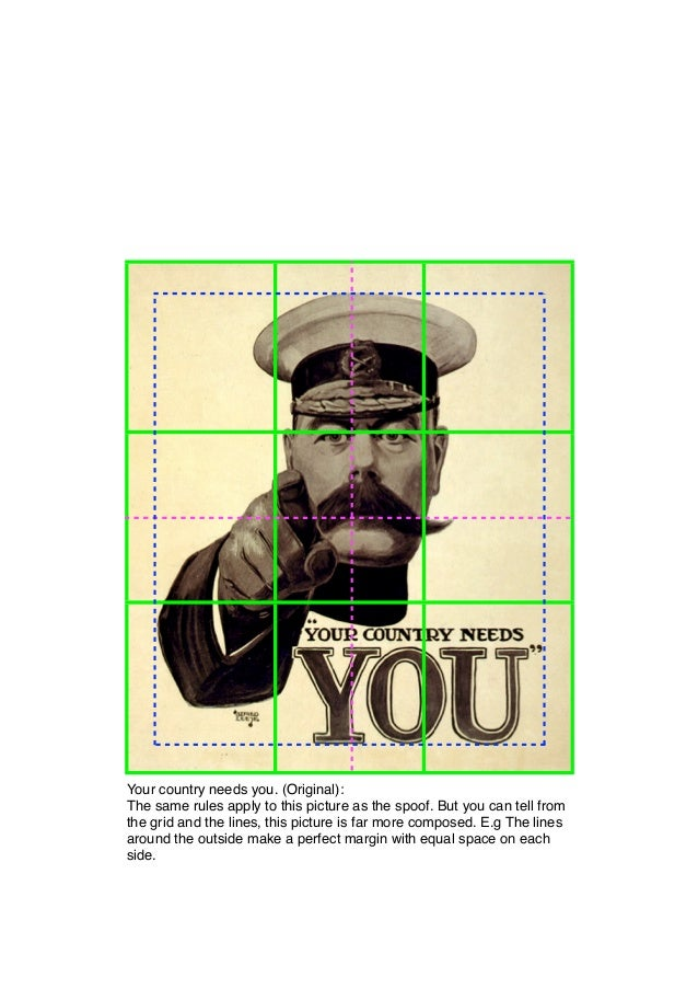 Your country needs you. (Original):The same rules apply to this picture as the spoof. But you can tell fromthe grid and th...