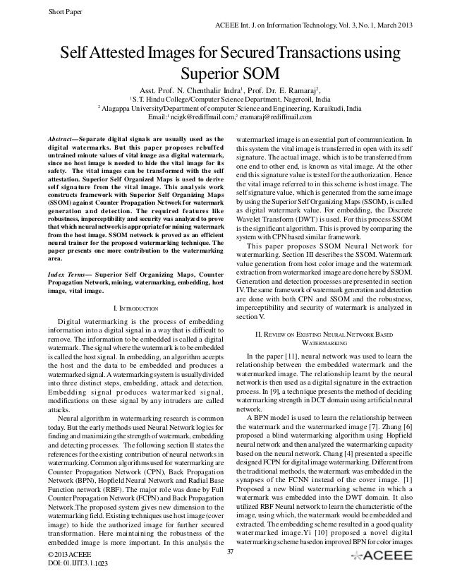 Short Paper                                                           ACEEE Int. J. on Information Technology, Vol. 3, No....