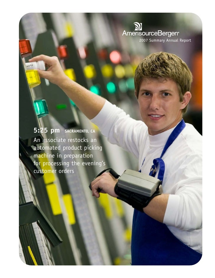 2007 Summary Annual Report     5:25 pm     SACRAMENTO, CA  An associate restocks an automated product picking machine in p...