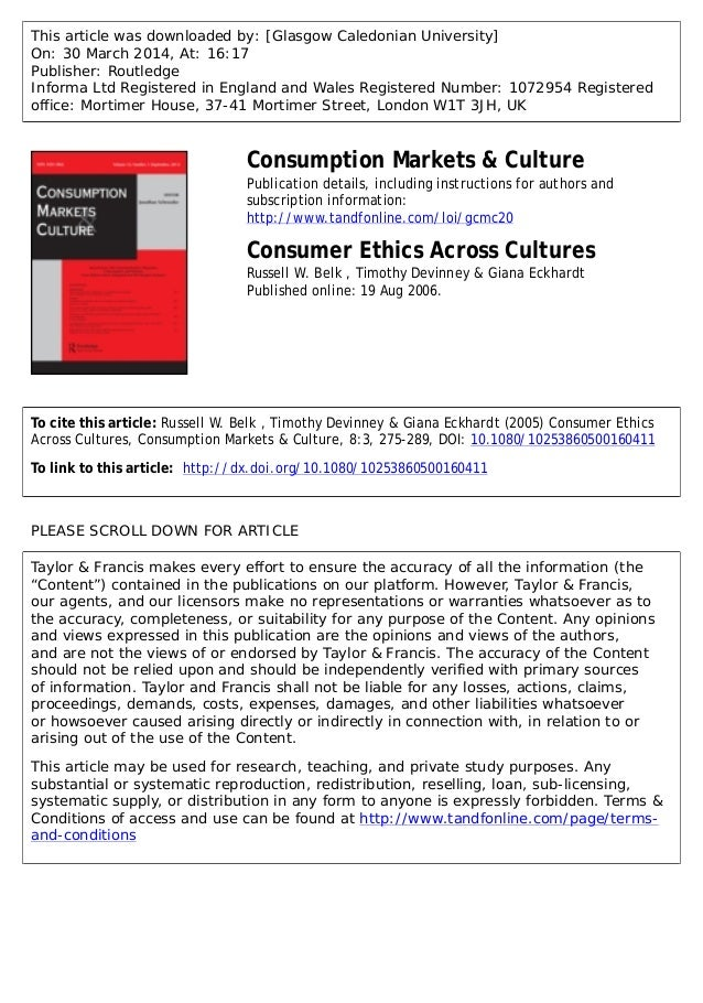 This article was downloaded by: [Glasgow Caledonian University] On: 30 March 2014, At: 16:17 Publisher: Routledge Informa ...