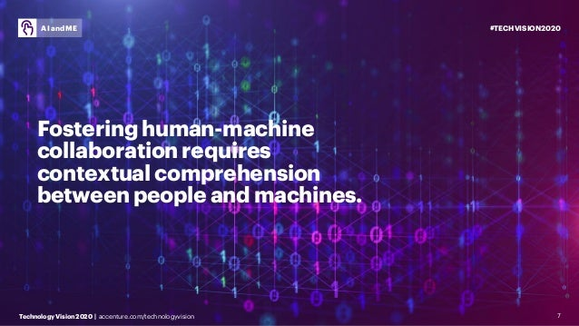 #TECHVISION2020 Technology Vision 2020 | accenture.com/technologyvision AI and ME 7 Fostering human-machine collaboration ...
