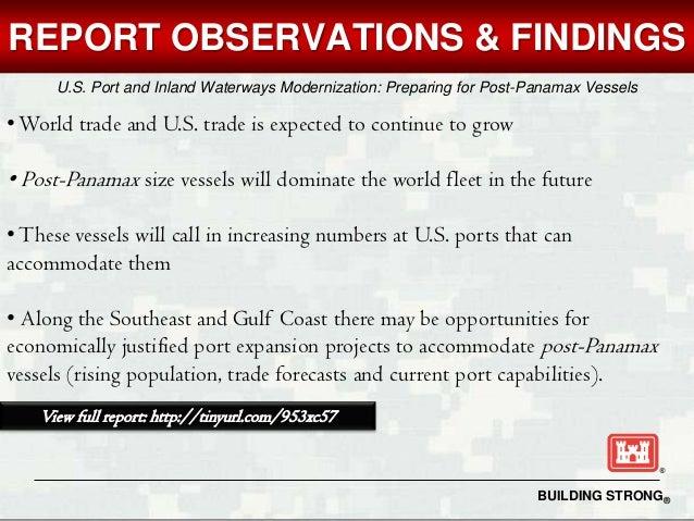 U S Port And Inland Waterways Modernization Preparing