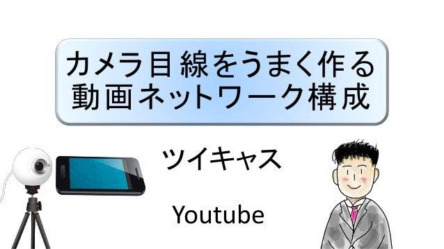 カメラ目線をうまく作る 動画ネットワーク構成 ツイキャス Youtube
