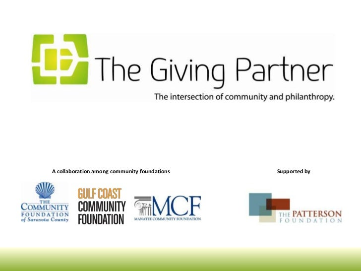 A collaboration among community foundations   Supported by