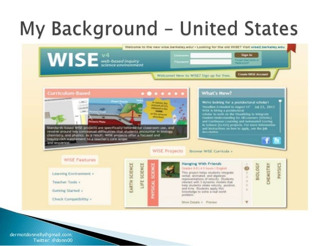 Inquiry Learning Environments: WISE (Oct262013) Slide 3