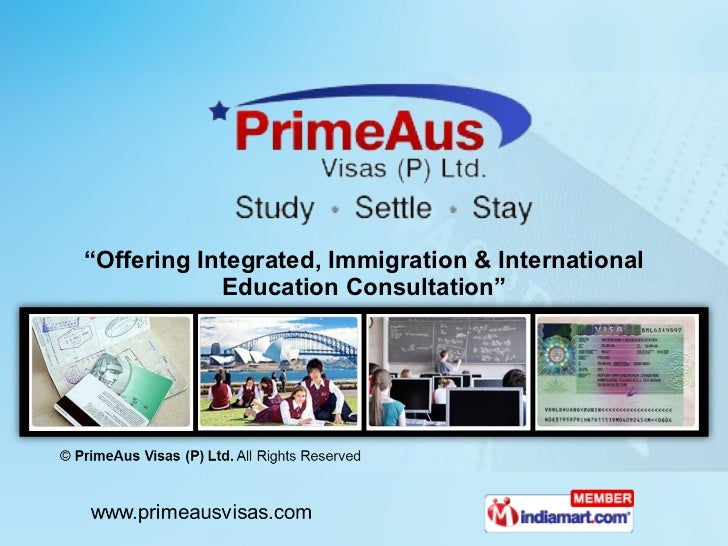 """ Offering Integrated, Immigration & International Education Consultation"""