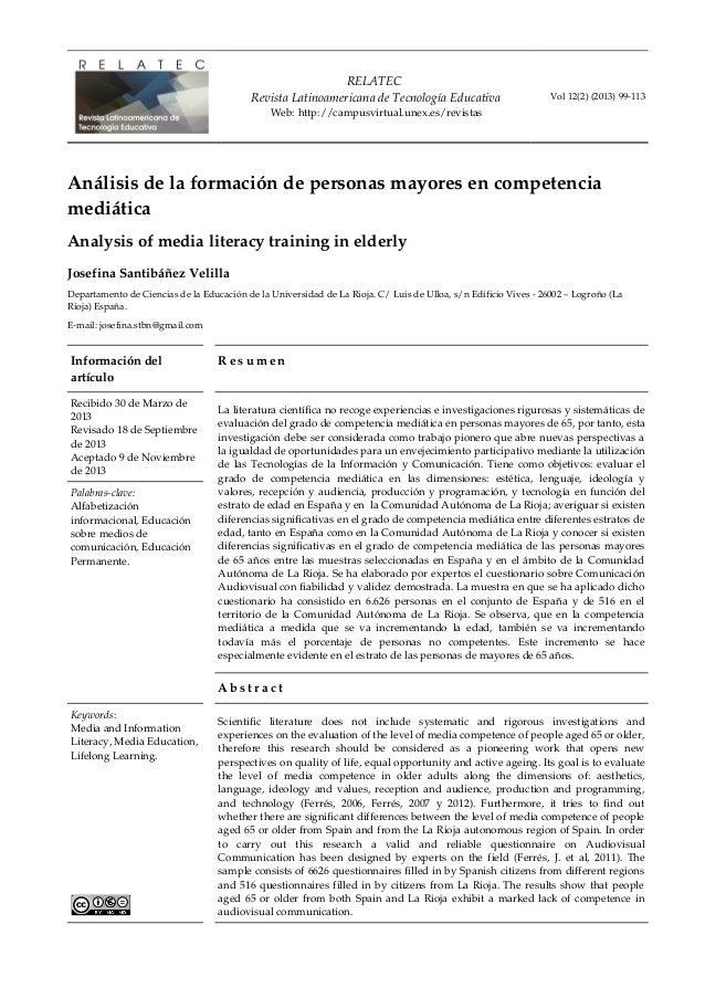 RELATEC RevistaLatinoamericanadeTecnologíaEducativa Web:http://campusvirtual.unex.es/revistas Vol12(2)(2013)9911...