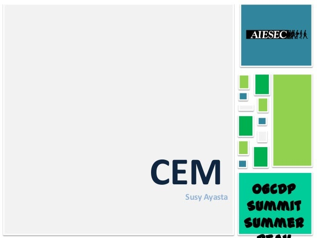CEM oGCDP Summit Summer Susy Ayasta