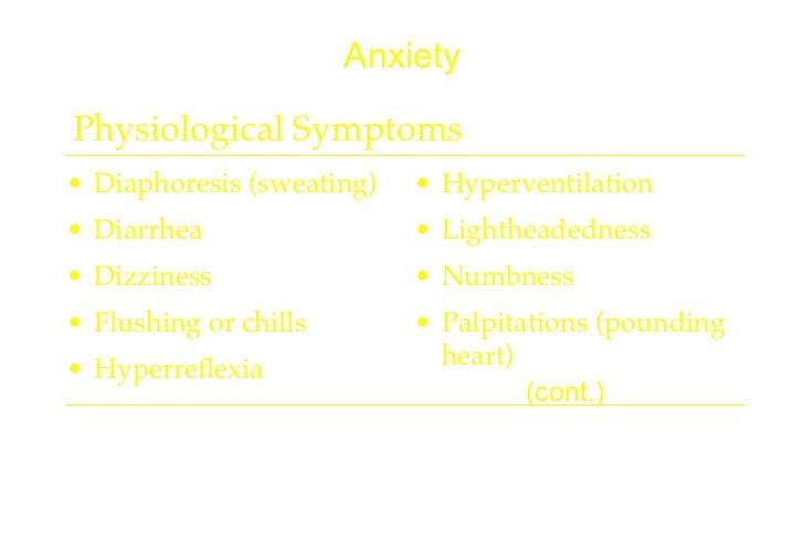 Anxiety Induced Hyperreflexia