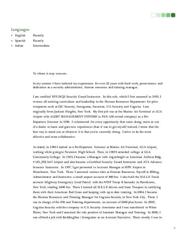 italian cover letter