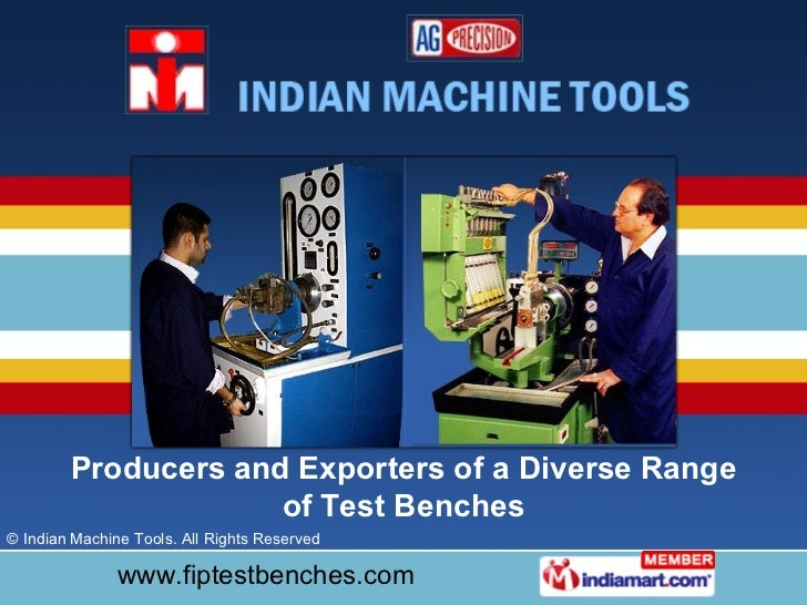 Producers and Exporters of a Diverse Range of Test Benches