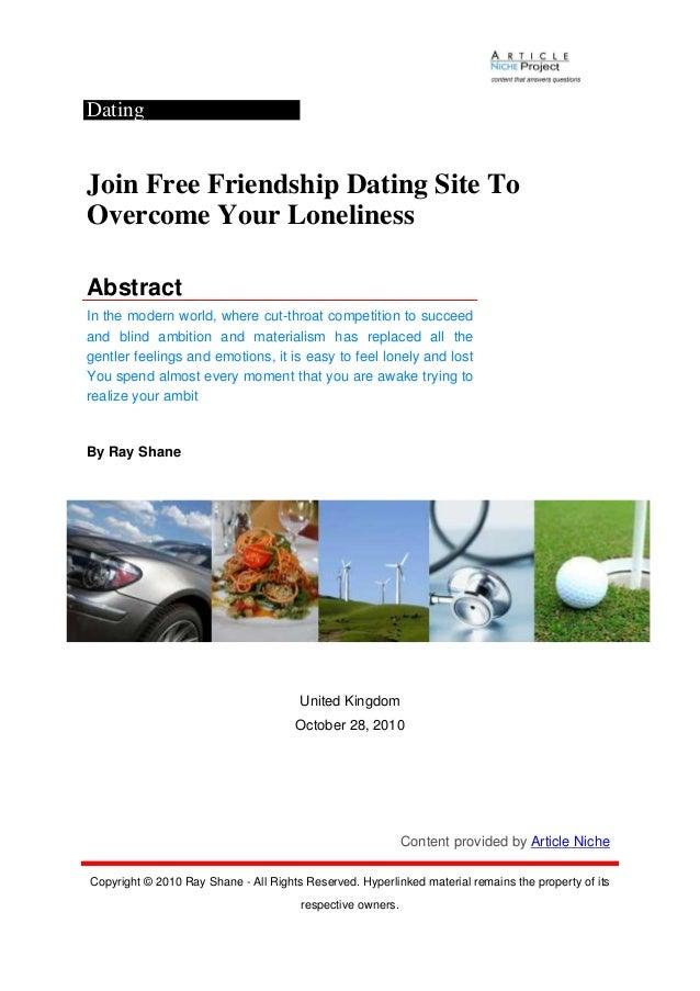 Friendship dating free