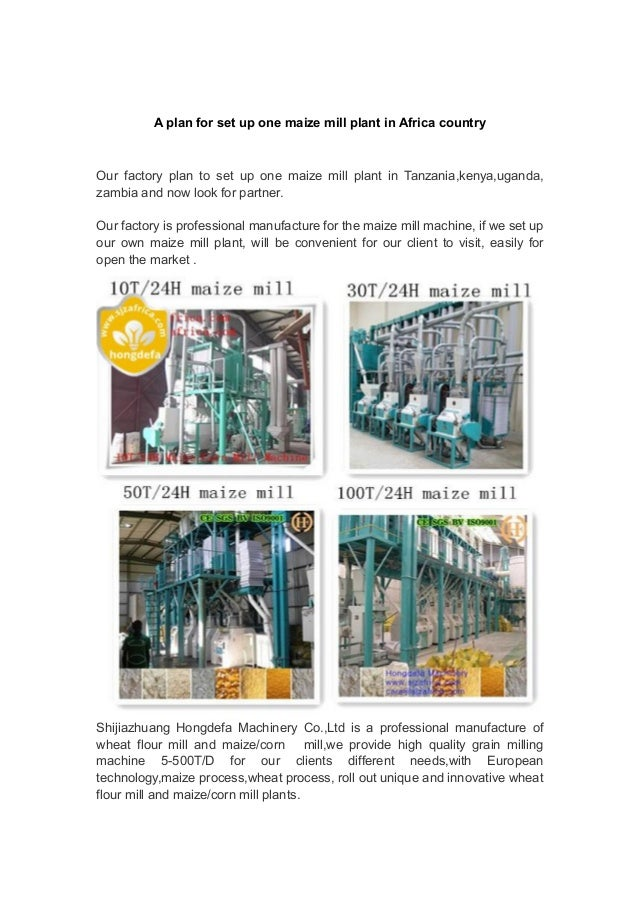 posho mill business plan in kenya