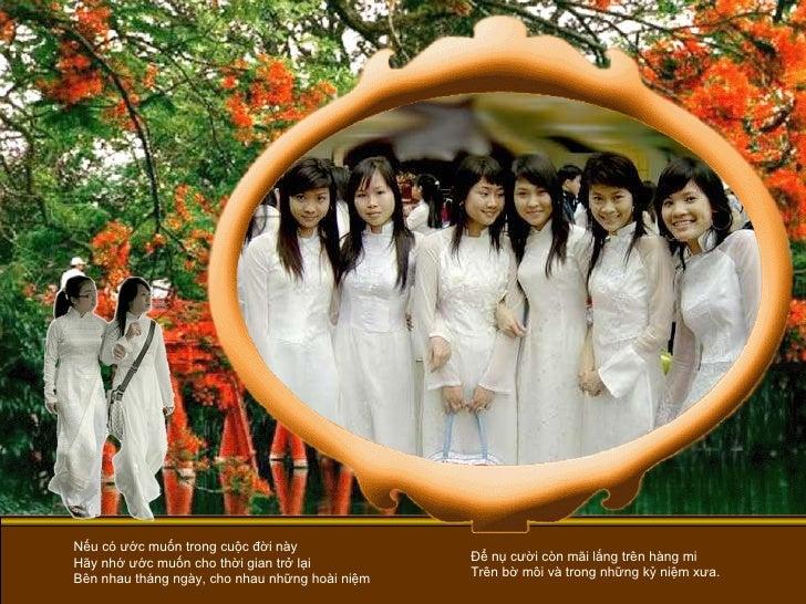 Nếu có ước muốn trong cuộc đời này Hãy nhớ ước muốn cho thời gian trở lại Bên nhau tháng ngày, cho nhau những hoài niệm Để...