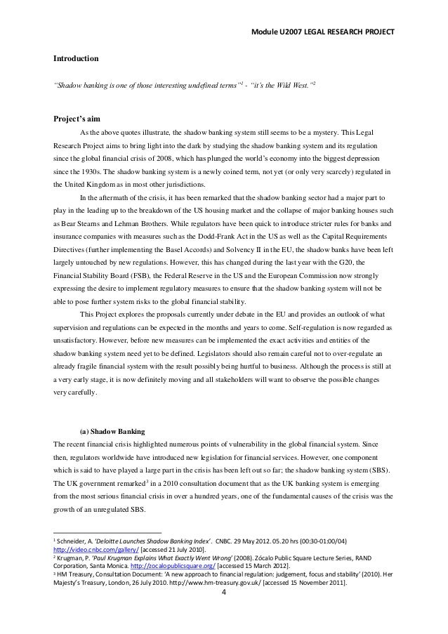 Financial crisis essay