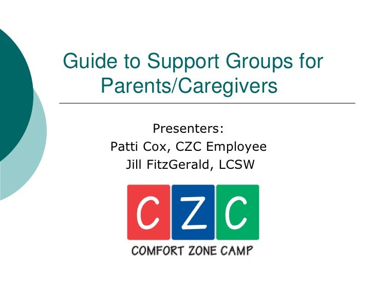 Guide to Support Groups for    Parents/Caregivers             Presenters:     Patti Cox, CZC Employee       Jill FitzGeral...