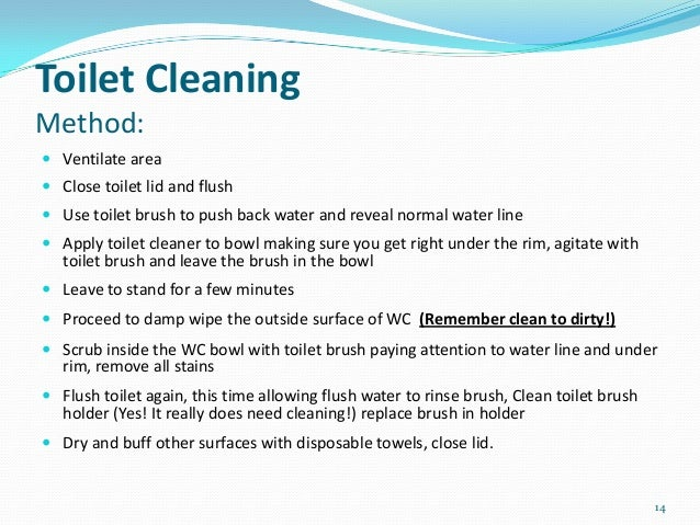 102 clean and maintain washrooms rh slideshare net standard operating procedure cleaning bathroom bathroom cleaning procedure housekeeping ppt