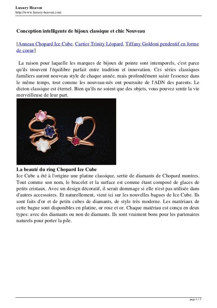 Luxury Heavenhttp://www.luxury-heaven.comConception intelligente de bijoux classique et chic Nouveau[Anneau Chopard Ice Cu...
