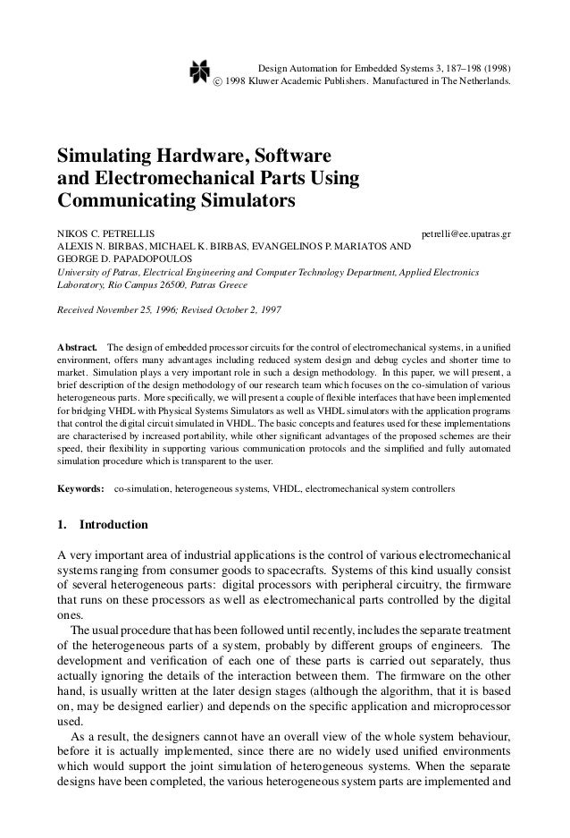 Design Automation for Embedded Systems 3, 187–198 (1998) c 1998 Kluwer Academic Publishers. Manufactured in The Netherland...