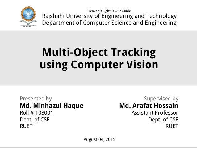 Multi Object Tracking   Presentation 1   ID 103001