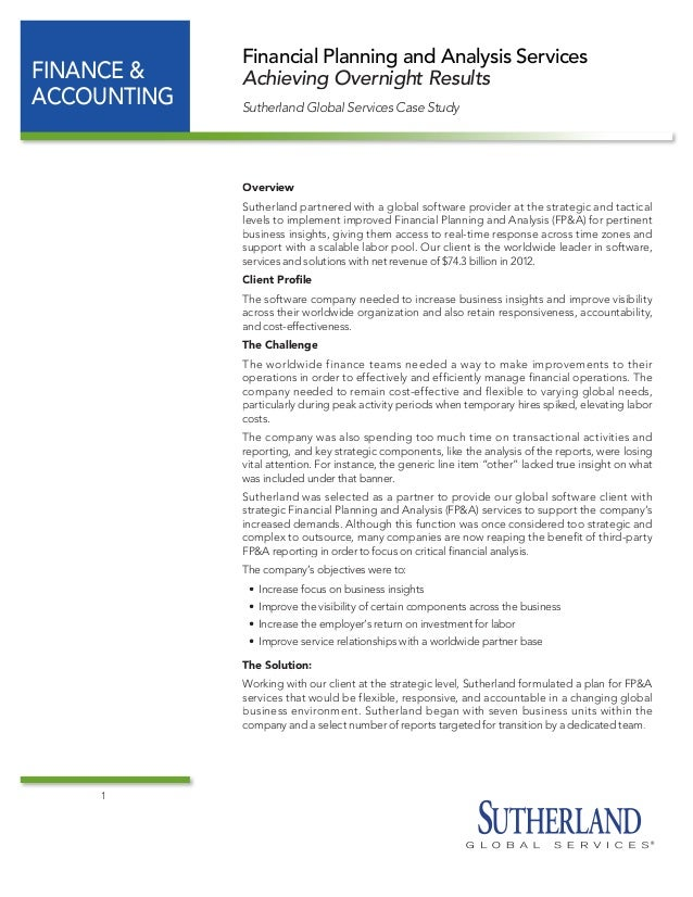 cfp case study solutions