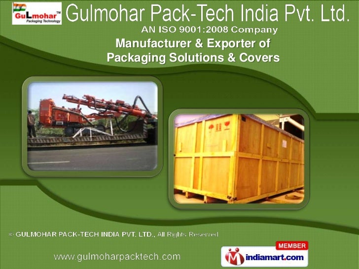 Manufacturer & Exporter ofPackaging Solutions & Covers