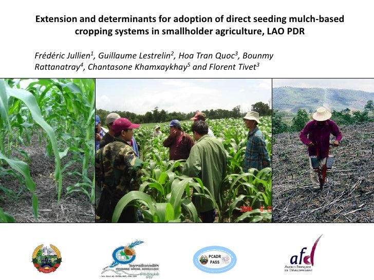 Extension and determinants for adoption of direct seeding mulch-based         cropping systems in smallholder agriculture,...