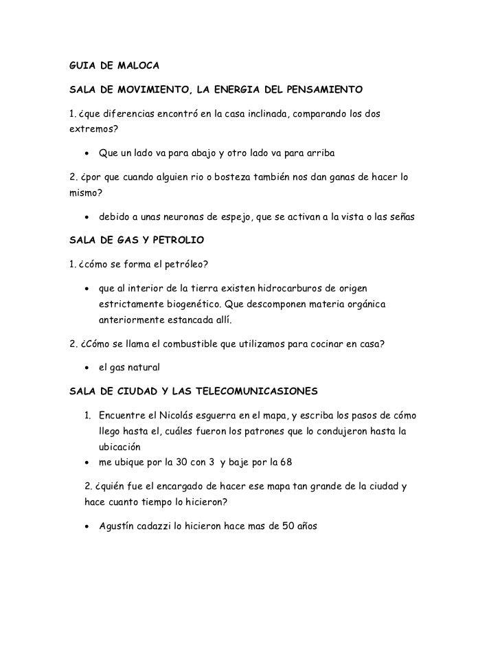 GUIA DE MALOCASALA DE MOVIMIENTO, LA ENERGIA DEL PENSAMIENTO1. ¿que diferencias encontró en la casa inclinada, comparando ...