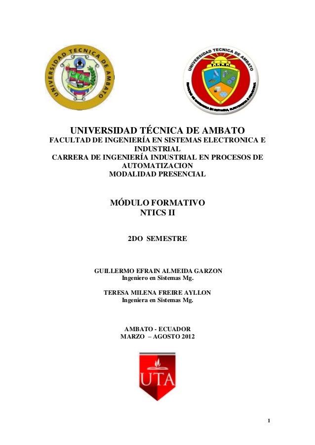 UNIVERSIDAD TÉCNICA DE AMBATOFACULTAD DE INGENIERÍA EN SISTEMAS ELECTRONICA E                   INDUSTRIAL CARRERA DE INGE...
