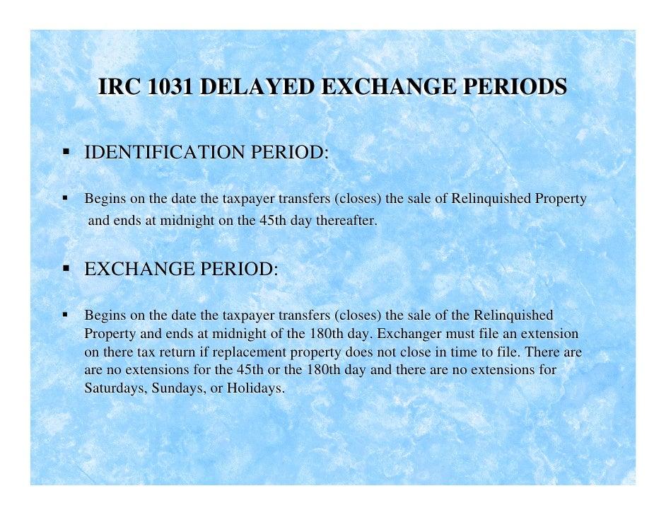 1031 Exchange Slides[1...1031 Exchange 95% Rule