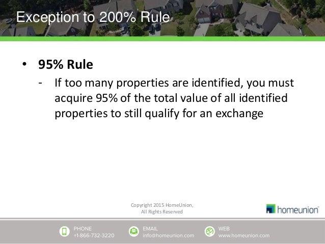 1031 Exchange Explaine...1031 Exchange 95% Rule