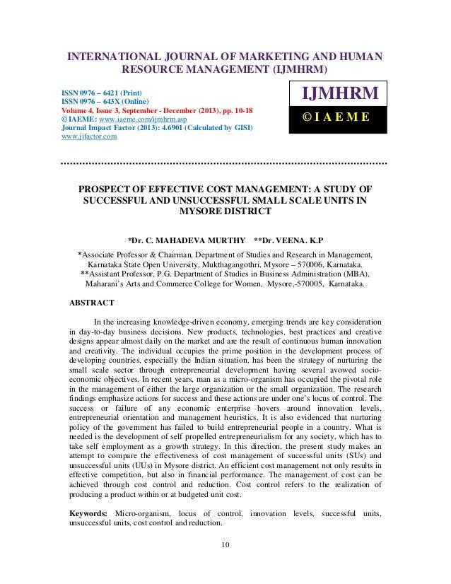 International Journal of Marketing and Human Resource INTERNATIONAL643X (Online), Volume 4, IssueManagement (IJMHRM), ISSN...