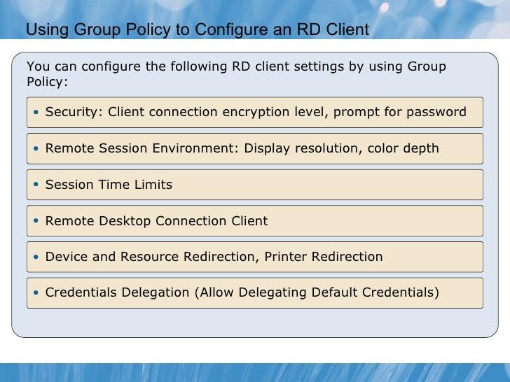 Remote Desktop Services and Virtual Desktop infrastructure in Windows…