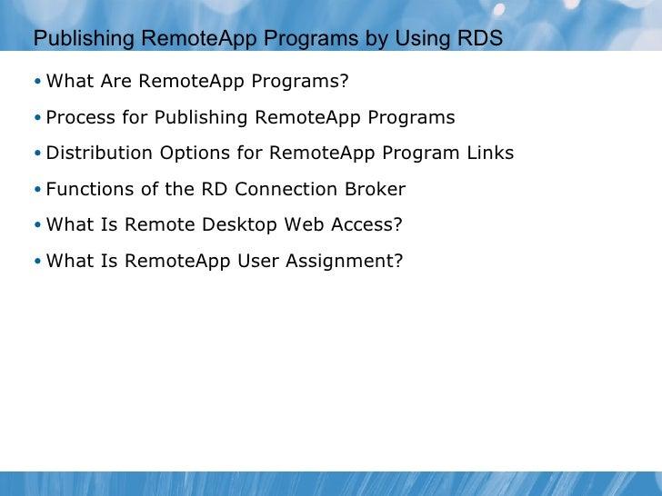 Remote Desktop Services and Virtual Desktop infrastructure