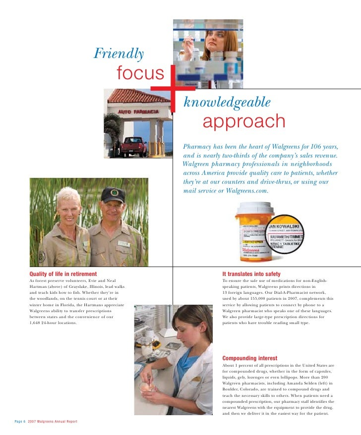 walgreen 2007 Annual Report