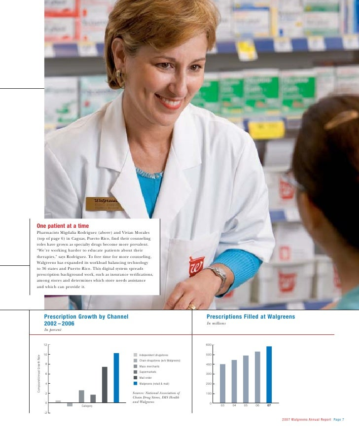 page 6 2007 walgreens annual report 9