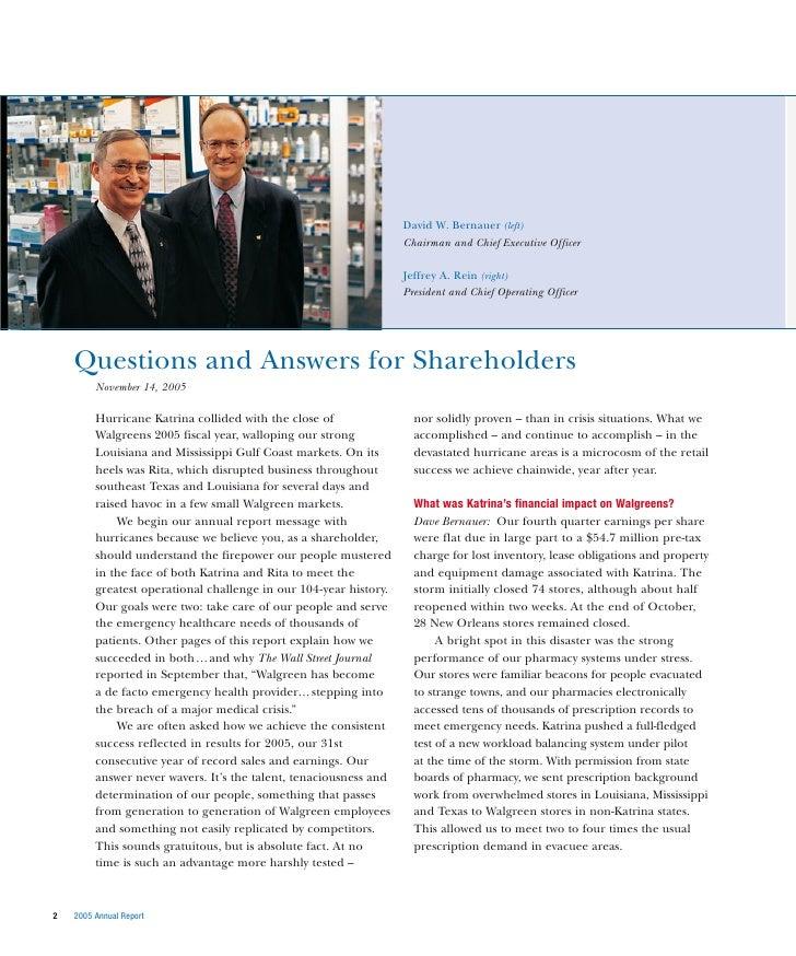 Walgreens annual report