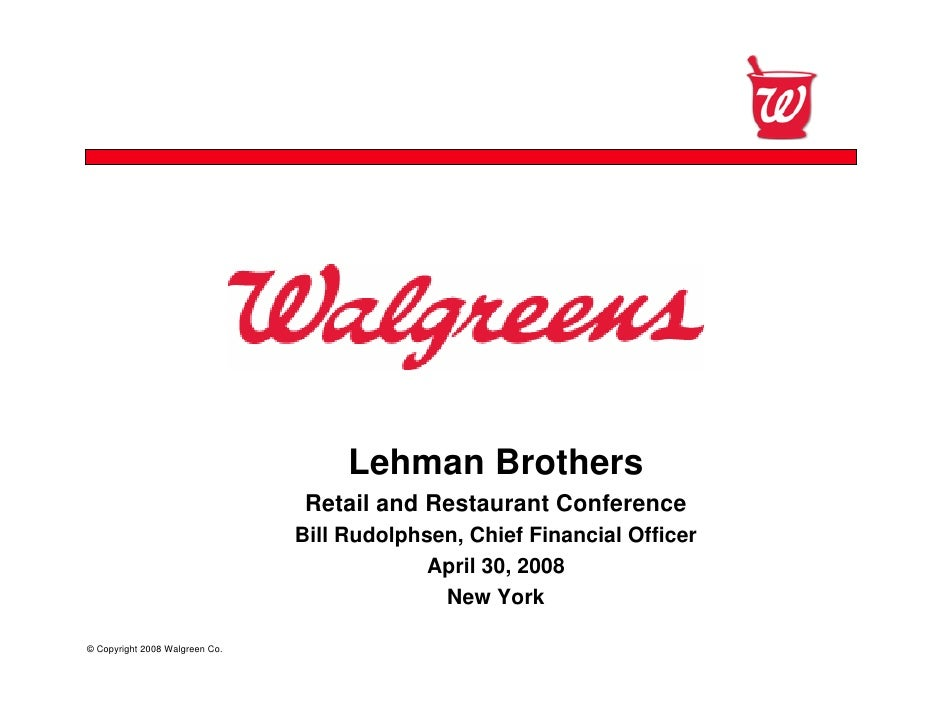 Confidential                                          Lehman Brothers                                  Retail and Restaura...